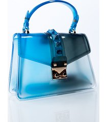 akira clear ombre top handle purse