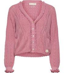 maureen cardigan gebreide trui cardigan roze odd molly