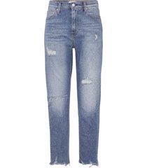 jeans high rise slim azul calvin klein