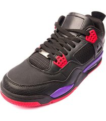 zapatilla dante black purple chancleta