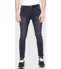 jeans ellus cropped negro - calce skinny