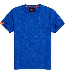 superdry t-shirt m1010024a crew neck tee t1v cobalt space dye - blauw