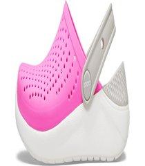 sandália crocs literide kids ™ rosa/branco.