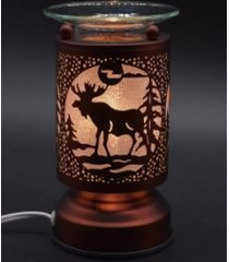 copper moose touch lamp oil/tart warmer - use with scentsy wax