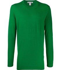 comme des garçons shirt long sweatshirt - green