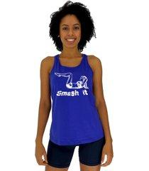regata feminina alto conceito samsh it azul royal