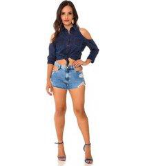 shorts jeans express hot pants gaulent feminino