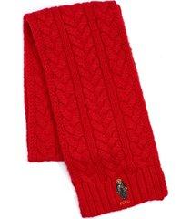 polo ralph lauren men's cable-knit bear scarf