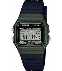 reloj clásico verde casio