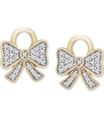 diamond bow earring charms (1/10 ct. t.w.) in 14k gold