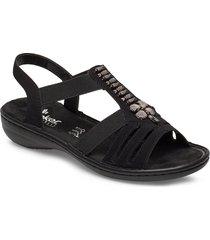 60806-00 shoes summer shoes flat sandals svart rieker