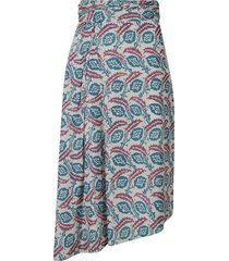 isabel marant motif print skirt