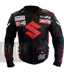 suzuki 4269 icon black leather motorcycle motorbike  pure cowhide armour jacket