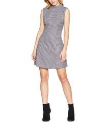 bcbgeneration printed mock-neck a-line mini dress