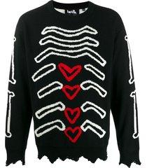 haculla bones sweater - black
