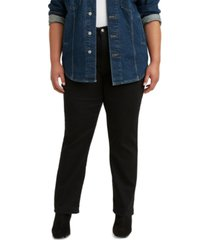 levi's trendy plus size 724 high-rise straight-leg jeans