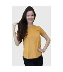 camiseta lisa amarelo d bell