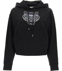 kenzo boxy sweatshirt with tiger gradient embroidery