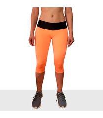 leggings corto deportivo mujer tykhe aria naranja