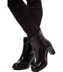 botas de lluvia tacon impermeable dark heel bottplie - negro
