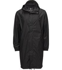 fishtail parka regenkleding zwart rains