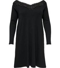 jurk met lange mouwen curvy gedetailleerde