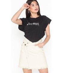 cheap monday slant skirt average white minikjolar