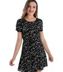 enterito tipo vestido floral negro nicopoly