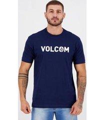camiseta volcom silk strong marinho - masculino