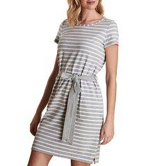 striped & belted t-shirt dress