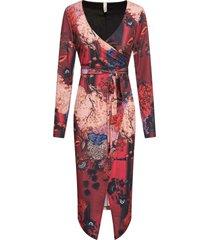 abito a portafoglio a fiori (rosso) - bodyflirt boutique