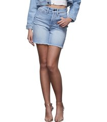 women's good american a-line denim shorts