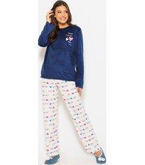 pijama any any soft azul royal