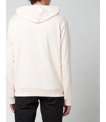 a.p.c. men's item hoodie - rose pale - l