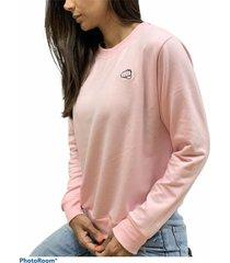 buzo básico rosado fist mujer