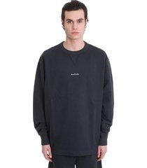 acne studios fin stamp sweatshirt in black cotton