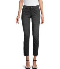 current/elliott women's the fling boyfriend ankle jeans - black out - size 23 (00)