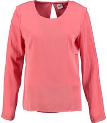 object viscose blouse shirt coral