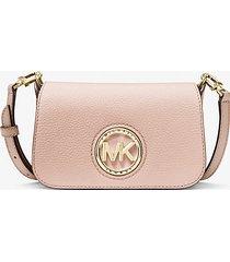 mk borsa a tracolla convertibile samira extra-small in pelle martellata - rosa tenue (rosa) - michael kors