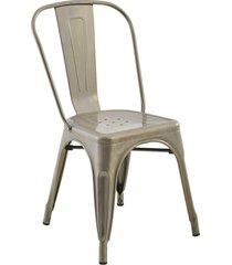 conjunto 04 cadeiras iron aã§o rivatti - cinza - dafiti