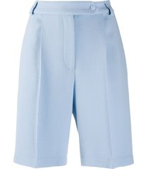 styland mid-rise bermuda shorts - blue