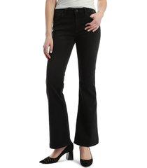 women's mavi jeans sydney supersoft flared leg jeans, size 28 32 - black