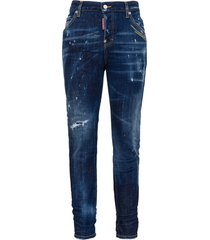 dsquared2 stretch jeans effect delave