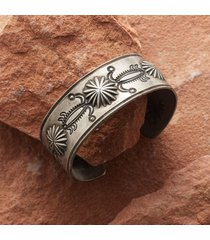 sterling repousse cuff