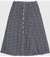 falda azul-blanco gap