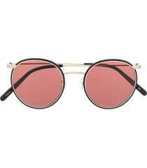 oliver peoples casson round-frame sunglasses - black