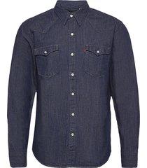 barstow western red cast rinse skjorta casual blå levi´s men