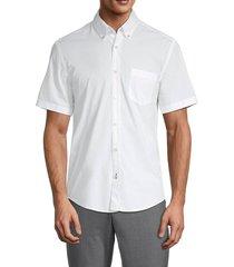 boss hugo boss men's roddy short-sleeve button-down shirt - white - size s