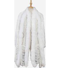 cappotto con scialle in pizzo autunno inverno