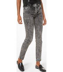 mk jeans in cotone stretch a lavaggio acido - nero (nero) - michael kors